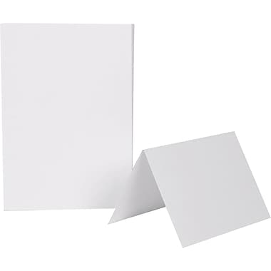 Jam Paper® Smooth Blank Foldover Cards, 4 5/8
