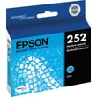 Epson DURABrite Ultra 252 Cyan Ink Cartridge (T252220-S)