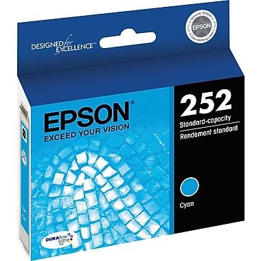 Epson DURABrite Ultra 252 Cyan Ink Cartridge (T252220-S)