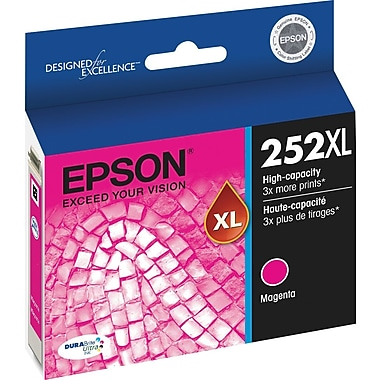 Epson DURABrite Ultra 252XL Magenta Ink Cartridge (T252XL320-S), High Yield