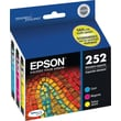 Epson DURABrite Ultra 252 C/M/Y Color Ink Cartridges (T252520-S), Combo 3/Pack