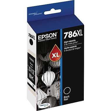 Epson 786XL Black Ink Cartridge, High Yield (T786XL120)