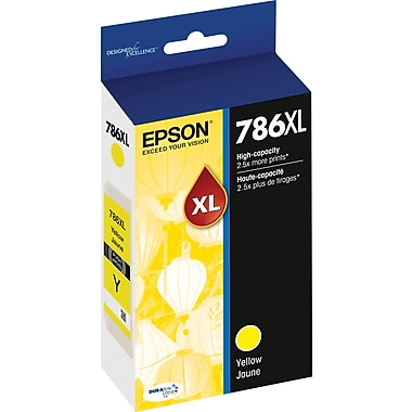 Epson DURABrite Ultra 786XL Yellow Ink Cartridge (T786XL420-S), High Yield