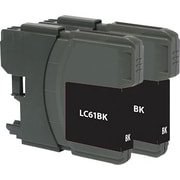 Staples Remanufactured Black Ink Cartridges, Brother LC61BK (SIB-RLC61B2), Twin Pack