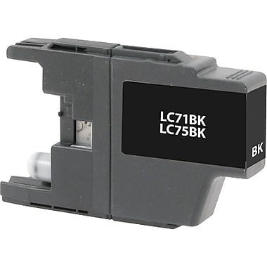 Staples Remanufactured Black Ink Cartridge, Brother LC75BK (SIB-RLC75B), High Yield