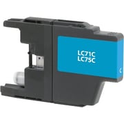 Staples Remanufactured Cyan Ink Cartridge, Brother LC75C (SIB-RLC75C), High Yield