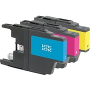 Staples Remanufactured C/M/Y Color Ink Cartridges, Brother LC75 (SIB-RLC75CMYDS), High Yield, Combo 3/Pack