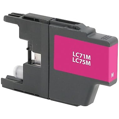Staples Remanufactured Magenta Ink Cartridge, Brother LC75M (SIB-RLC75M), High Yield