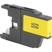 Staples Remanufactured Yellow Ink Cartridge, Brother LC75Y (SIB-RLC75Y), High Yield