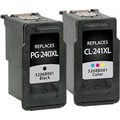 Staples Remanufactured Black and Tricolor Ink Cartridges, Canon PG-240XL/CL-241XL (SIC-R240X241X), High Yield, Combo 2/Pack