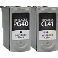 Staples® Remanufactured Black and Tricolor Ink Cartridges, Canon PG-40/CL-41 (SIC-R4041CPDS), Combo 2/Pack
