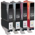 Staples® Remanufactured Black and C/M/Y Color Ink Cartridges, Canon CLI-8 (SIC-RCLI84PKDS), Combo 4/Pack