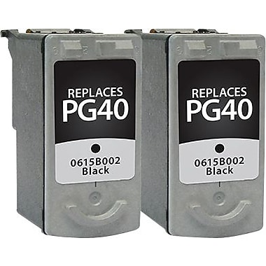 Staples Remanufactured Black Ink Cartridges, Canon PG-40 (SIC-RPG40B2DS), Twin Pack