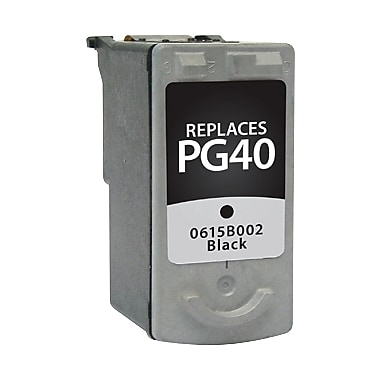 Staples Remanufactured Black Ink Cartridge, Canon PG-40 (SIC-RPG40BDS)