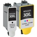 Staples® Remanufactured Black and Tricolor Ink Cartridges, Kodak 30XL (SIK-R30CPDS), High Yield, Combo 2/Pack