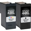 Staples® Remanufactured Black and Tricolor Ink Cartridges, Lexmark 43XL/44XL (SIL-R4344XCPDS), High Yield, Combo 2/Pack