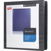 "1-1/2"" Staples® Standard View Binder with D-Rings, Black"