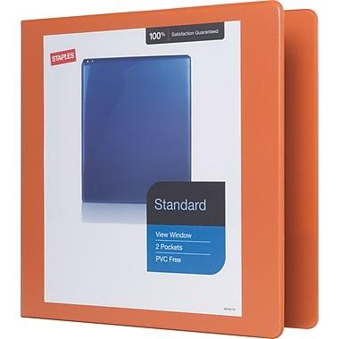 Staples Standard 2-Inch D-Ring View Binder, Bright Orange (26446-CC)
