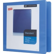 "2"" Staples® Standard View Binder with D-Rings, Periwinkle"