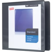 Staples Standard 2-Inch Slant D 3-Ring View Binder, Black (26443-CC)