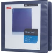 "2"" Staples® Standard View Binder with D-Rings, Blue"