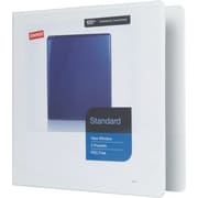Staples Standard 2-Inch Slant D 3-Ring View Binder, White (24637)