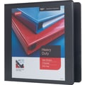 2in. Staples® Heavy-Duty View Binder with D-Rings, Black