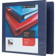 Staples Heavy-Duty 3-Inch Slant D 3-Ring View Binder, Blue (24691-US)