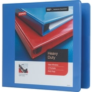 Staples Heavy-Duty 3-Inch D-Ring View Binder, Periwinkle (24694-US)