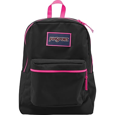 Jansport Overexposed Backpack, Black/Fluorescent Pink