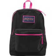 Jansport Overexposed Backpack, Black/Fluorescent Pink