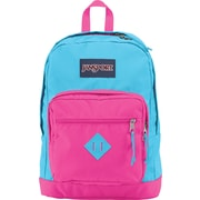 Jansport City Scout Backpack, Mammoth Blue/Fluorescent Pink, 15