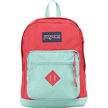 Jansport City Scout Backpack, Coral Dusk/Aqua Dash, 15in.