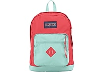 Jansport City Scout Backpack, Coral Dusk/Aqua Dash, 15'