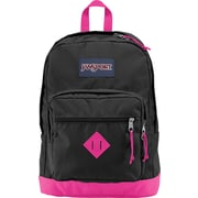 Jansport City Scout Backpack Black/Fluorescent Pink, 15