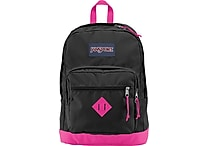 Jansport City Scout Backpack Black/Fluorescent Pink, 15'