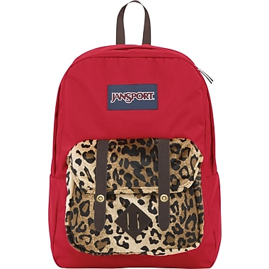 Jansport Breakster Backpack, Red Cheetah, 15