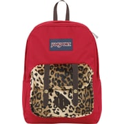 Jansport Breakster Backpack, Red Cheetah, 15""