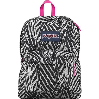 Jansport Superbreak Gray Animal Print Backpack (T501ZE6) | Staples®