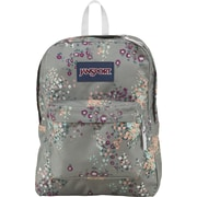 Jansport Superbreak Backpack, Gray/Sprinkle Floral