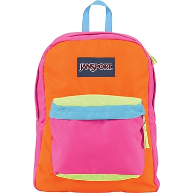 Jansport Superbreak Backpack, Pink/Oragne Team