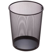 Honey Can Do Steel Mesh Waste Basket, Black, 4.75 Gallon, 2/Pack