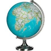 """National Geographic 12"""" Bowers Illuminated Desk Globe, Blue"""