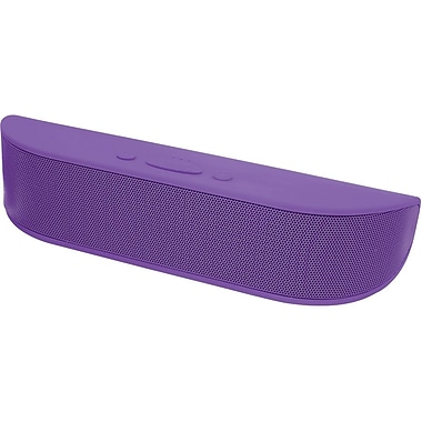 Aduro Bee Bop Portable Bluetooth Speaker with Microphone, Purple