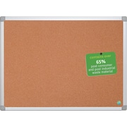 Mastervision  Earth Cork Board 3'x4', Alum. Frame