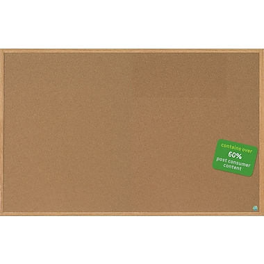 Mastervision Earth Cork Board 4'x6', MDF Oak Frame