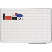MasterVision®  Magnetic   1x 2 Grid Planner 36x48, Alum. w/Kit