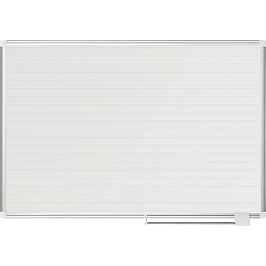 MasterVision® Magnetic Ruled Planner 36x48, Alum.