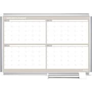 MasterVision®  Magnetic  4 Month Planner Trad. Format 24x36, Alum.