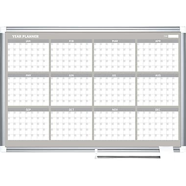 Mastervision  Magnetic  12 Month Planner Trad. Format 24x36, Alum.